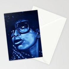 badu?!-blue Stationery Cards