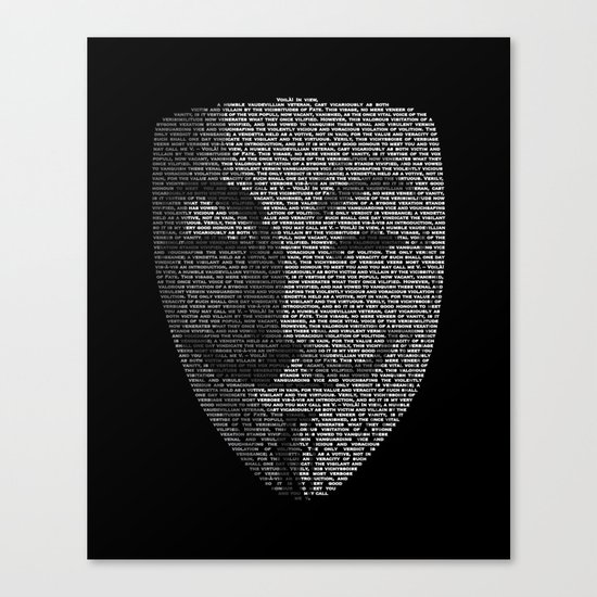 ...You May Call Me 'V' – So who's Anonymous? Canvas Print