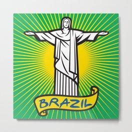 Christ the Redeemer statue in Rio de Janeiro, Brazil Metal Print