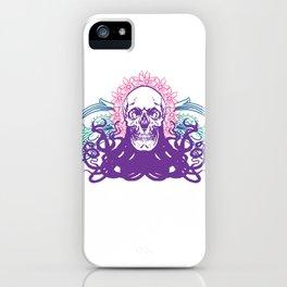 Skull octopus print iPhone Case