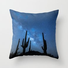 Milky Way, Dreams and Succulents Throw Pillow
