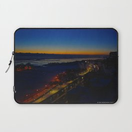 Contrast at Dusk/Clear Sky and Lake Effect (Chicago Sunrise/Sunset Collection) Laptop Sleeve