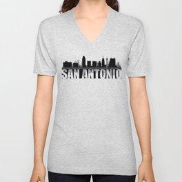 San Antonio Silhouette Skyline Unisex V-Neck
