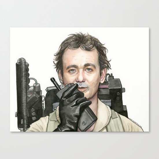 Bill Murray as Peter Venkman from Ghostbusters Canvas Print
