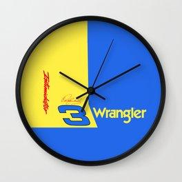 Dale Earnhardt #3 Wrangler Wall Clock
