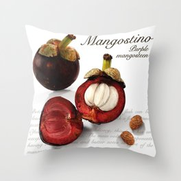 Mangostino Throw Pillow