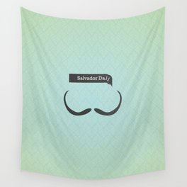 Salvador Dali (Famous mustaches and beards) Wall Tapestry