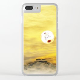 Time Rabbit and Magic Mountain Clear iPhone Case