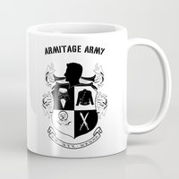 army Mugs featuring Armitage Army by Circus Doll