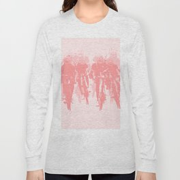 Cyclists in the sprint pink Long Sleeve T-shirt