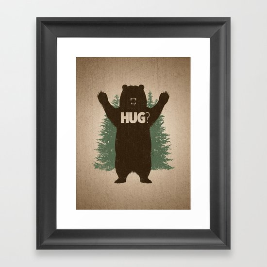 Bear Hug Framed Art Print