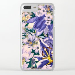 flowers blue  art #flowers #flora Clear iPhone Case