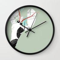 lobster Wall Clocks featuring Lobster by Urška Hočevar