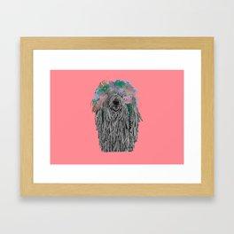 Dredlock Dog (Pastel Red Edition) Framed Art Print
