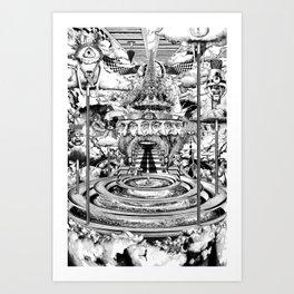AL BUEN TIEMPO, MALA CARA Art Print