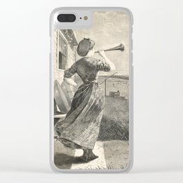 Winslow Homer - The Dinner Horn, 1870 Clear iPhone Case