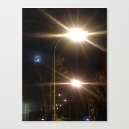 Urban night Paris Canvas Print