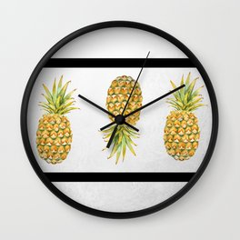 Lineapples Wall Clock
