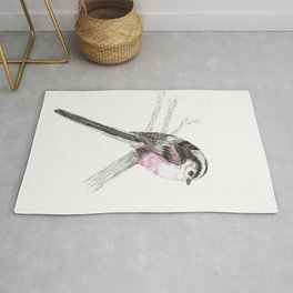 Tailed tit Rug