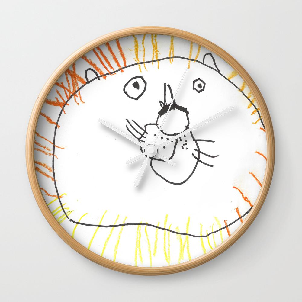 Lion The Lion Wall Clock by Becktheartist CLK8383034