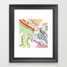 nude figures Framed Art Print