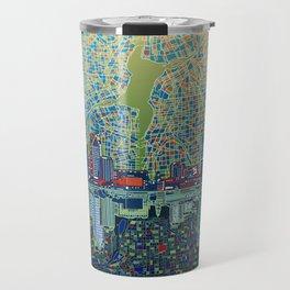 detroit city skyline Travel Mug