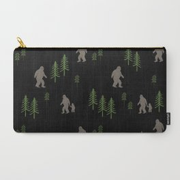 Sasquatch forest woodland mythic animal nature pattern cute kids design forest Carry-All Pouch