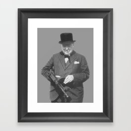 Sir Winston Churchill Framed Art Print