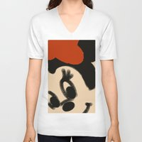 minnie mouse V-neck T-shirts featuring Doodling Minnie Mouse by SH.drawings