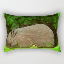 sleeping forest guardian  Rectangular Pillow