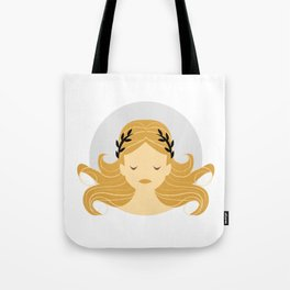Virgo Zodiac Sign Symbol: The Maiden Tote Bag