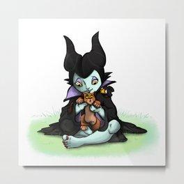 Effie & Scratch (Maleficent & Scar) Metal Print