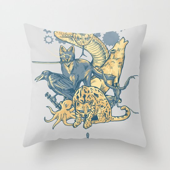 Shadow Moses Throw Pillow