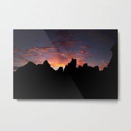 Moab Sunrise, Arches National Park, Utah Metal Print