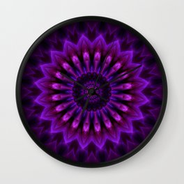 Mandala Crownchakra Wall Clock