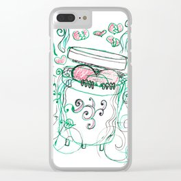 Stinky love Clear iPhone Case