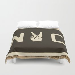 NYC Peace Sign (Color) Duvet Cover
