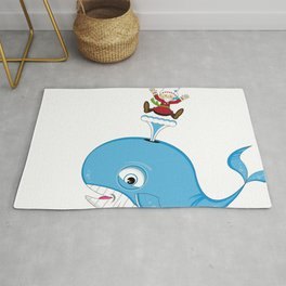 Jonah and the Whale Rug