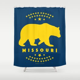 Missouri Black Bear Shower Curtain