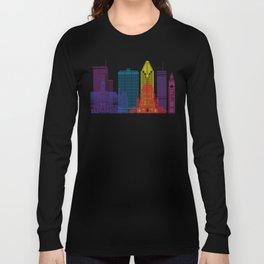 Montreal V2 skyline pop Long Sleeve T-shirt