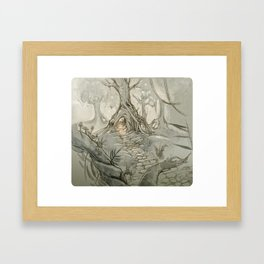 Drawings a Forest Framed Art Print