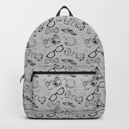 Hipster Elements Pattern Backpack