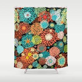 Floral firework Shower Curtain