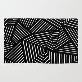 Ab Linear Zoom Black Rug