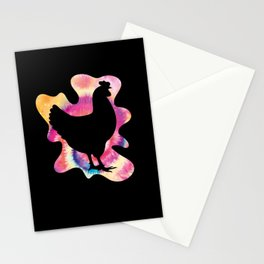 Tie Dye Chicken Farmer Chicken Lover Stationery Cards