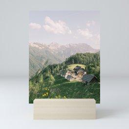 Farmhouses on the Mountains of Slovenia | Alps Vacation | Europe Travel Photography Mini Art Print