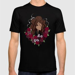 Lady with a flower crown T-shirt