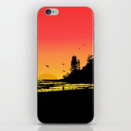 Burleigh beach iPhone Skin