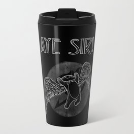 Aye Sir (White) Travel Mug