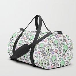Alien and UFO pattern Duffle Bag